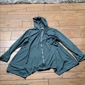 Logo Sz XL Green Hooded Sweatshirt.